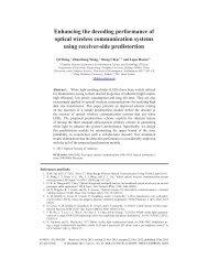 Enhancing the decoding performance of optical ... - Optics InfoBase