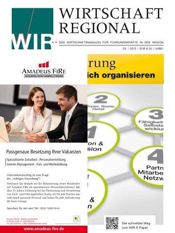 Erfolgreich organisieren - Wirtschaft Regional epaper