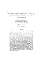 Critical points and symmetries of a free energy function for biaxial ...