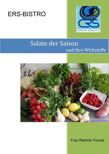 Salate der Saison und ihre Wirkstoffe - Ernst-Reuter-Schule