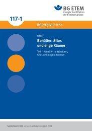 Behälter, Silos und enge Räume - Die BG ETEM
