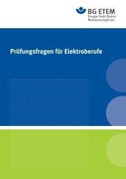 Prüfungsfragen für Elektroberufe - Die BG ETEM