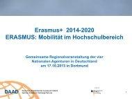 Erasmus+ 2014-2020 ERASMUS: Mobilität im ... - eu-DAAD