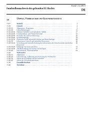 umwelt, verbraucher und gesundheitsschutz - EUR-Lex - Europa