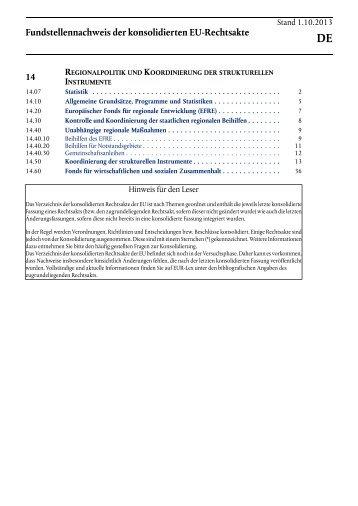 regionalpolitik und koordinierung der strukturellen ... - EUR-Lex