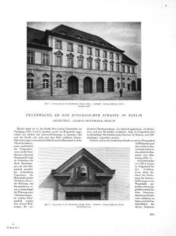 FEUERWACHE AN DER STOCKHOLMER STRASSE IN BERLIN