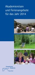 Programm Ferienflyer 2014 - Evangelische Akademie Bad Boll