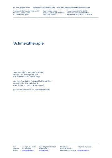 Schmerztherapie - Ever.ch