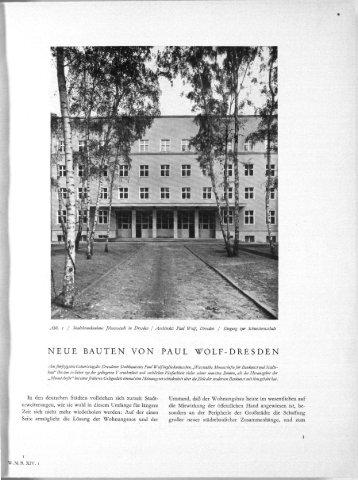 NEUE BAUTEN VON PAUL WOLF-DRESDEN