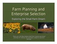 Farm Planning and Enterprise Selection - Oregon State University ...