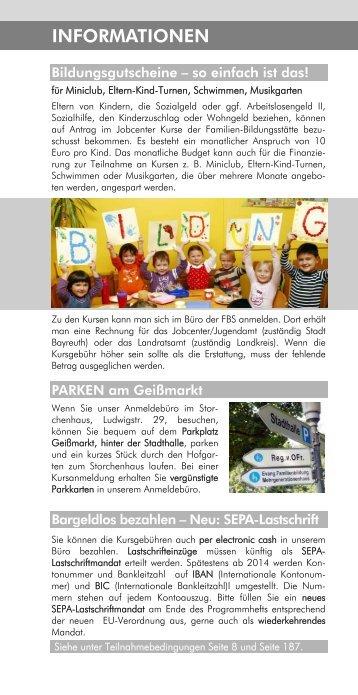 INFORMATIONEN - Familien-Bildungsstätte Bayreuth