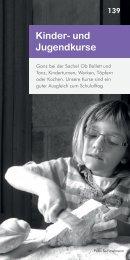 Kinder- und Jugendkurse - Familien-Bildungsstätte Bayreuth