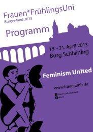 Programmheft FFU 2013 - FrauenFrühlingsUni