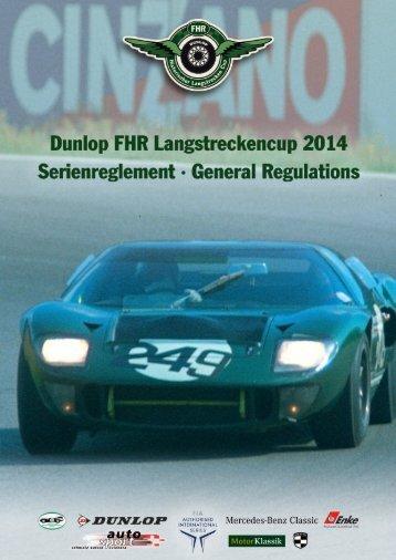 Serieneinschreibung Dunlop FHR Langstreckncup 2014