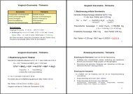 Vergleich Gravimetrie - Titrimetrie Vergleich Gravimetrie - Titrimetrie ...