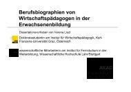 Berufsbiographien von Wirtschaftspädagogen in der ...