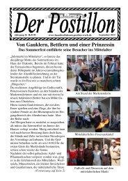 Von Gauklern, Bettlern und einer Prinzessin Das Sommerfest ...