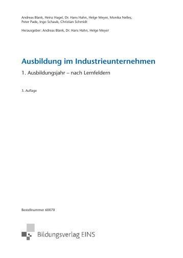 Ausbildung im Industrieunternehmen