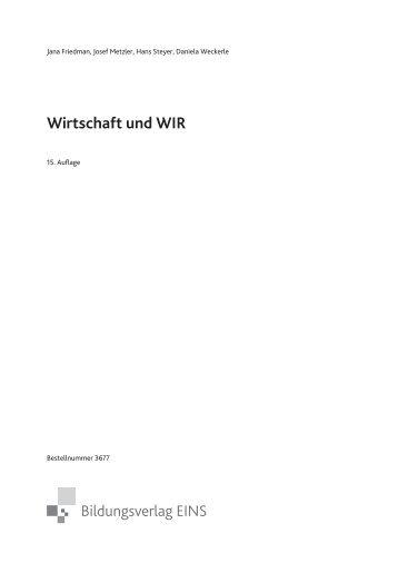 Wirtschaft und WIR