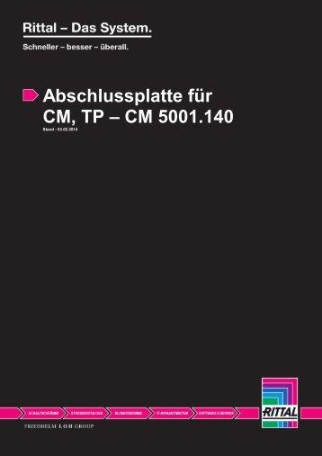 Abschlussplatte für CM, TP – CM 5001.140 - Voelkner