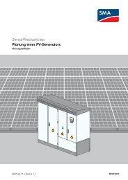 Planung eines PV-Generators - SMA Solar Technology AG