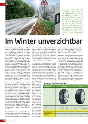 Im Winter unverzichtbar - Flotte.de