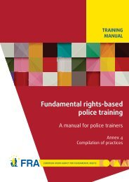 Fundamental rights-based police training - European Union Agency ...