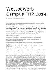 Wettbewerb Campus 2014 - Fachhochschule Potsdam