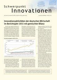 Schwerpunkt Innovationen, 162 KB - Zentrum für Europäische ...