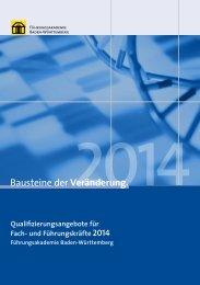 Qualifizierungsangebot für Fach- und Führungskräfte 2014