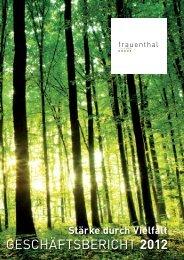 Geschäftsbericht 2012 hier downloaden - Frauenthal Holding AG