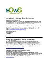 Interkulturelle Öffnung im Gesundheitswesen_Mai 2013