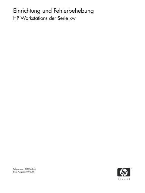 Einrichtung und Fehlerbehebung - Hewlett Packard