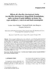 Effects of a Bacillus thuringiensis toxin, two Bacillus ... - HAL