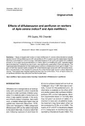 Effects of diflubenzuron and penfluron on workers of Apis cerana ...