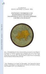 Postwesen und Briefkultur im Königreich Westphalen. Das offizielle ...