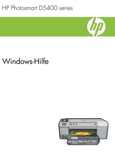 1 HP Photosmart D5400 series Hilfe - Hewlett Packard