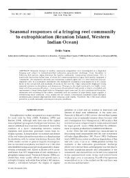 Seasonal responses of a fringing reef community to ... - HAL
