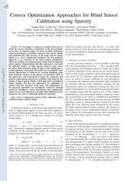 Convex Optimization Approaches for Blind Sensor ... - HAL - INRIA