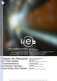 Analyse des Manuscrits des Trois contes: la transcendance des ...