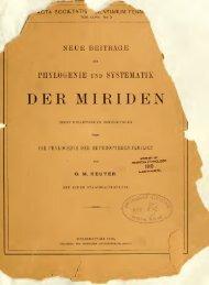 Neue Beiträge zur Phylogenie und Systematik der Miriden ... - Helda