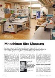 Maschinen fürs Museum - HOMAG Group