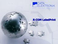 R·COM Labelprint - Data Elektronik Gmbh