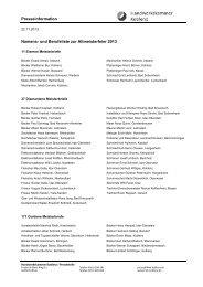 Presseinformation Namens- und Berufeliste zur Altmeisterfeier 2013