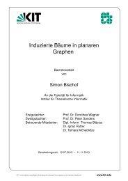 Induzierte Bäume in planaren Graphen - Algorithmik I - Karlsruher ...