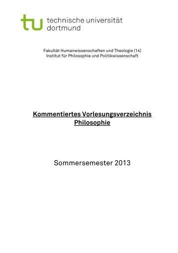 Sommersemester 2013 - TU Dortmund - FK14