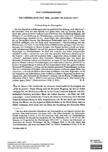 """Die Niederlande und der """"Alarm"""" im Januar 1940 - Institut für ..."""