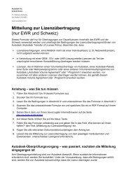 Mitteilung zur Lizenzübertragung (nur EWR und Schweiz) - Autodesk