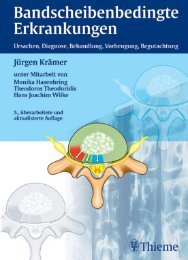 Thieme: Bandscheibenbedingte Erkrankungen - Buch.de