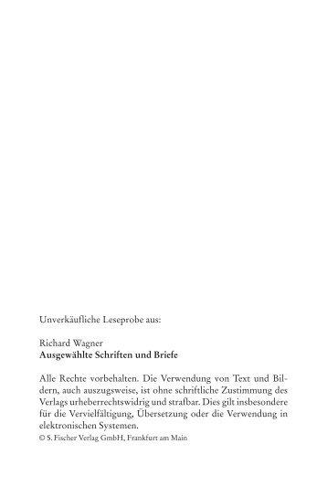 1 Unverkäufliche Leseprobe aus: Richard Wagner ... - Buch.de